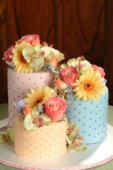 Wedding, Cake, Pink, Orange, Blue, Purple, Yellow, Sugarbakers cakes