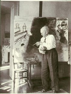 Raoul Dufy at work.