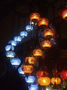 Stunning Turkish Mosaic lamps