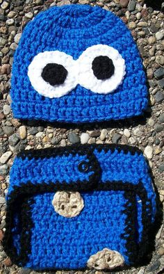 Baby Boy Crochet Cookie Monster Diaper Cover by TjCrochetCreations, $20.00