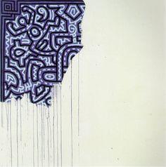 KEITH HARING,Untitled, 1989.Acrylic on canvas. / The Prodigious Century