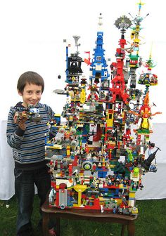 Lego tower - this took months to make. Great job though!