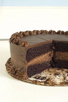 decadent chocolate cake -