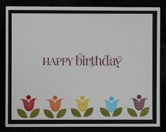 Luvin Stampin Up: Bright Blossoms Happy Birthday Card