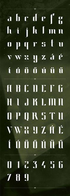 """""""FUSION typeface / 2012"""" by   Eszter Misztarka"""