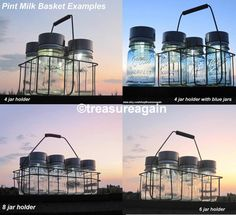 Mason Jar Solar Baskets by treasureagain http://etsy.me/1bEEns6
