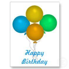 Happy Birthday Balloons Post Card