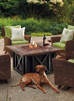 Make any backyard more inviting with a fire pit.