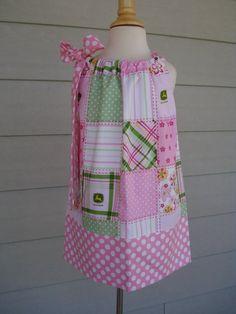 Girls Pillowcase Dress baby John Deere by Baby by babyharrill, $22.00