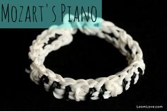 How to Make a Rainbow Loom Mozart's Piano Bracelet