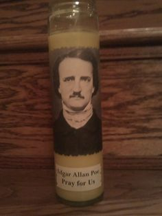 Edgar Allan Poe Prayer Candle