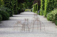 wire trelli, wire garden, garden support, plant bell, wire support, garden idea, belle, bell wire, plant support