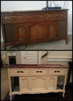 Redo old school stereo cabinet.