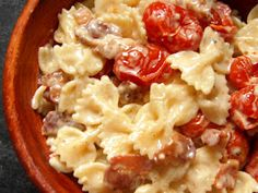 Farfalle with Bacon, Roasted Tomatoes, and Cream