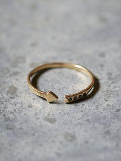 Odette Diamond Arrow Band Ring