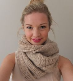 Textured Infinity scarf.