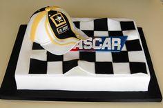 NASCAR Cake - sheet cake style