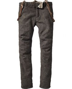 Scotch & Soda Woolen pants with suspenders