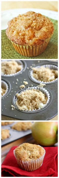 Apple Muffins - one of the most popular apple recipes on my site. #breakfast #recipes #healthy #friday #recipe