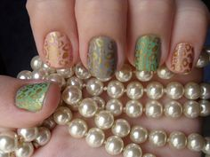 Use toothpicks and dip it in golden nail polish. Then carefully make the spots.