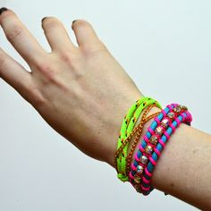 DIY Making friendship bracelets with swarovski elements