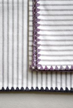 Laura's Loop: Flannel Receiving Blankets - The Purl Bee - Knitting Crochet Sewing Embroidery Crafts Patterns and Ideas!