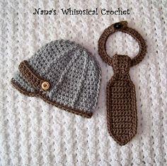 Ravelry: Dapper Darlin Newsie Hat & Neck Tie pattern by Carolyn VanOstran