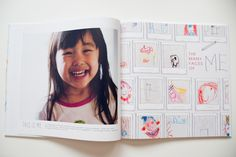 Turn kids artwork into a book - She used a predesigned layout called Mini Masterpieces by Shutterfly.