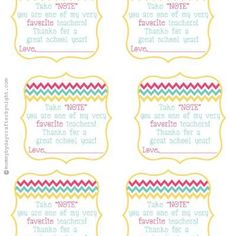 Take note you are one of my very favorite #teachers! free printable