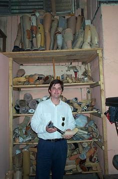 William Kennedy Smith, MD, with prosthetic limbs in Nicaragua.