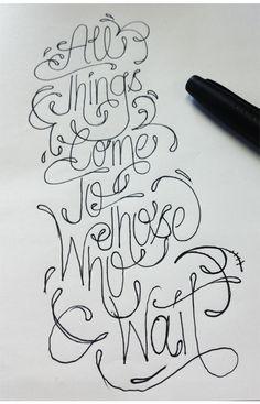 hand drawn type | Tumblr