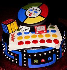 an 80's Theme Cake