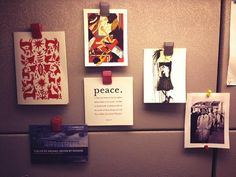 """""""My mini art gallery plus @repjohnlewis for inspiration. #myawesomedesk"""""""