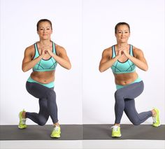 Love this move for toning, lifting, and strengthening the butt. Curtsy lunges are a must-do move!