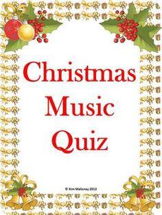 Christmas Carol Music Quiz FREEBIE.   :-)   More Freebies from Aussie Music Teacher at: http://www.pinterest.com/kimmd123/aussie-music-teachers-freebies/