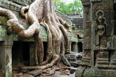 Ruins of Angkor Wat in Siem Reap, Cambodia.