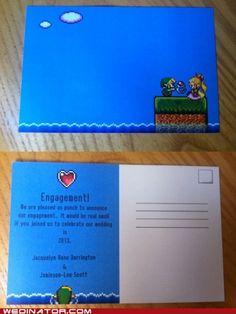 Legend of Zelda wedding invites!