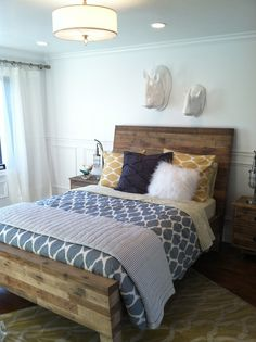 guest bedroom, like these colors
