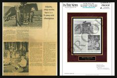 Old articles can be restored and then mounted to display an old memory in a modern and permanent way!