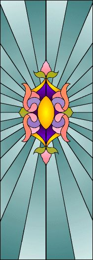 """try3.gif 188×525 pixels  1"""" scale stained glass.  Trim to fit"""