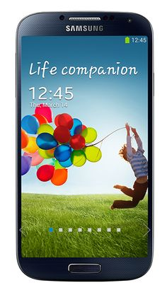 The new Samsung Galaxy S 4 smartphone in black.