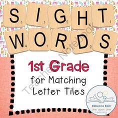 Letter Tile Sight Words 1st Grade Templates from Rebecca Reid's Line upon Line Learning on TeachersNotebook.com -  (18 pages)  - Practice recognizing and spelling 1st grade sight words by matching letter tiles to the correct alphabet letters on these template pages.
