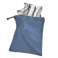 Use a shoe bag to keep clothes from getting dirty.