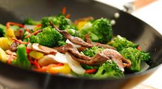 Beef Stir-Fry With Broccoli: A healthy, low-fat dinner you can make in 15 minutes. #weightloss