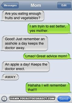 advis mom, text, laugh, advic mom, funni, autocorrect, humor, auto correct, doctor