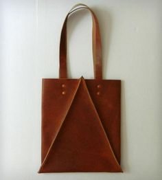 Tall Leather Tote