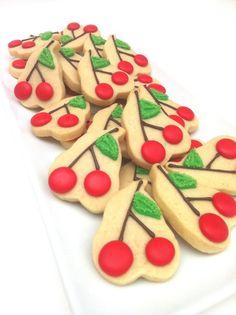 Sweet cherries cookies