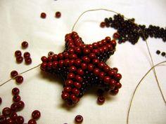 tutorials, beaded starfish, beadwork, follow starfish, fotonávod, seed beads, starfish tutori, bead tutori