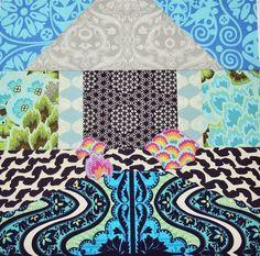 = free pattern =  House block by Melissa Peda at 100 Billion Stars