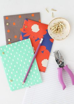 DIY: easy back to school notepads